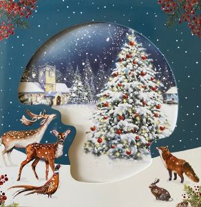 Woodland Tree Scene Christmas Cards