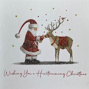 Santas Reindeer Christmas Cards