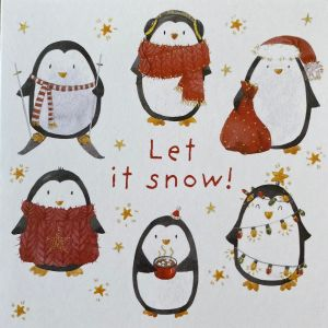 Let it Snow Penguins Christmas Cards
