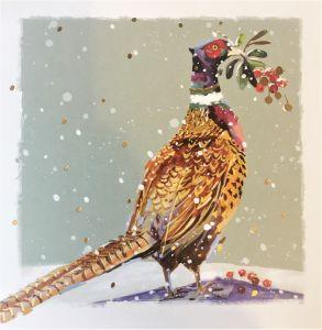 Pheasant with Mistletoe Christmas Cards