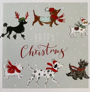 Happy Christmas Dogs Christmas Cards
