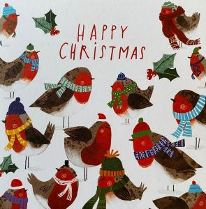 Happy Christmas Robins Christmas Cards