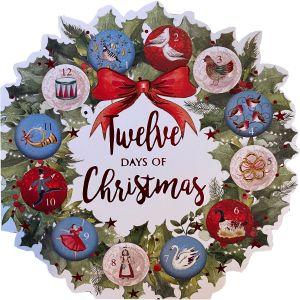 12 Days Wreath Christmas Cards