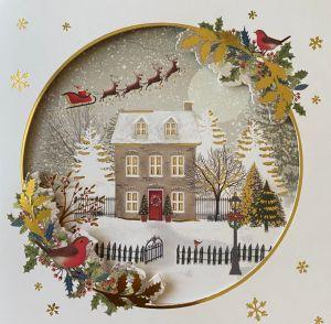 Christmas Cottage Scene Christmas Cards