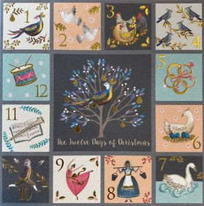 Pastel Twelve Days of Christmas Cards