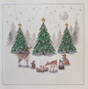 Woodland Christmas Scene Christmas Cards