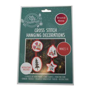 Christmas Cross Stitch Tree Decorations Kit