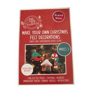 Christmas Felt Tree Decorations Kit