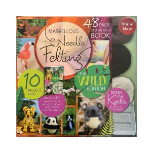 Boxed Wild Needle Felting Book with Project Kit