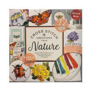 Boxed Cross Stitch Nature Creations Book with Project Kit