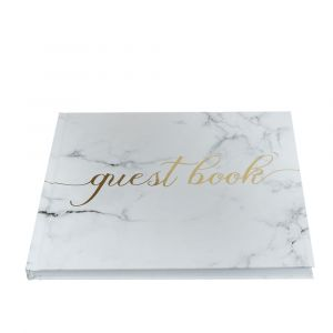 Scripted Marble Wedding Guest Book