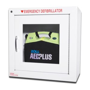 """Image of Standard Wall Cabinet 9"""" designed to hold AED Plus"""