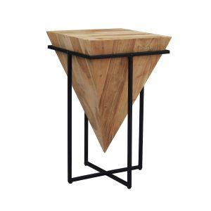 Pyramid Side Table Light Wood