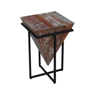 Pyramid Side Table Dark Wood