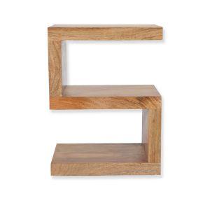 Mango Wood S Shaped Shelves