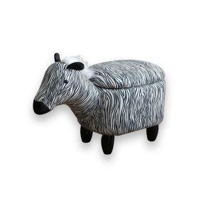 Zebra Storage Footstool