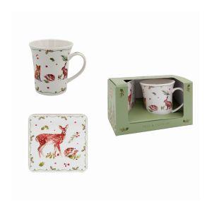 Winter Animals Mug & Coaster Set