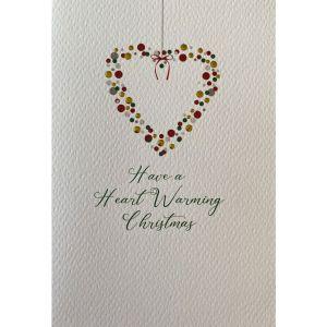 Bauble Heart Wreath Christmas Cards