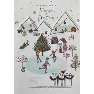 Magical Christmas Scene Christmas Cards
