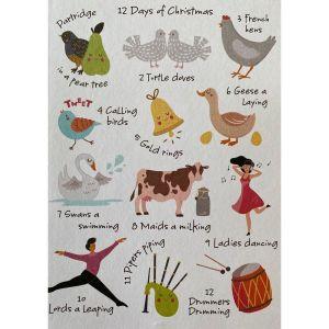 Modern 12 Days of Christmas Cards
