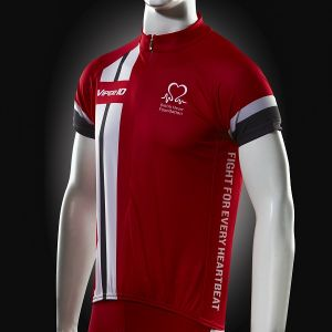Image for Cycling Jersey, Red White and Grey, Short-sleeve, Men's
