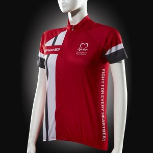 Image for Cycling Jersey, Red White and Grey, Short-sleeve, Women's