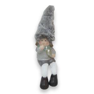 Grey Ceramic Dangly Leg Person