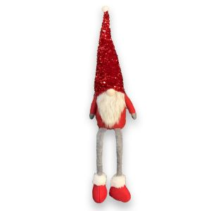 Sitting Red Feet Gnome