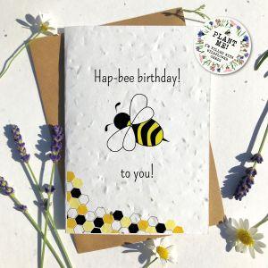 Hapbee Birthday Eco Seed Card