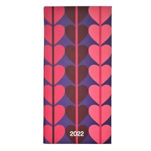 2022 Heart Slimline Charity Diary
