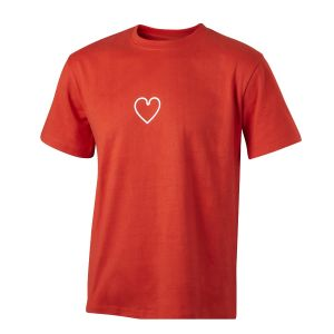 Men's Red Mini Heart Icon T-Shirt