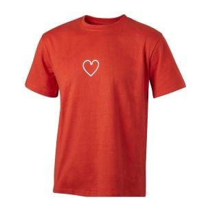 Men's Red Mini Heart Icon T-Shirt