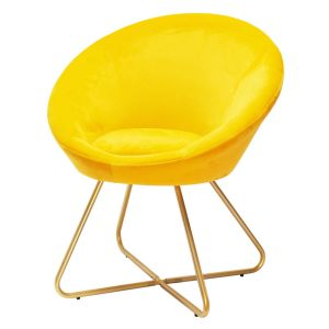 Yellow and Gold Cocktail Chair