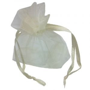 Vintage Romance Ivory Organza Bags - Pack of 10