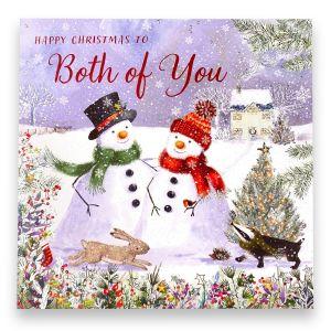Both of You Snowmen Christmas Card