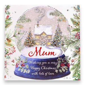 Mum Cottage Snowglobe Christmas Card