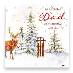 Special Dad Stag Christmas Card