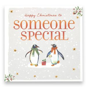 Someone Special Penguins Christmas Card