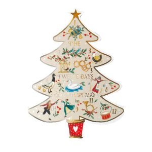 12 Days of Cut Out Tree Christmas Cards, 10pk