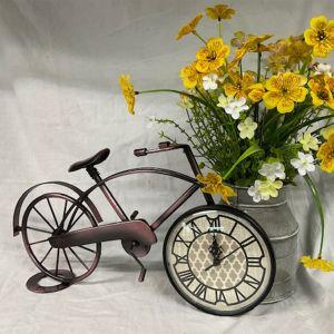 Antique Bonze Metal Bicycle Clock