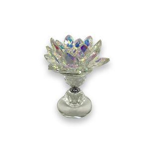 Rainbow Glass Tea Light Holder