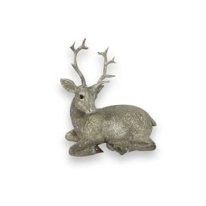 Small Glittery Sitting Stag