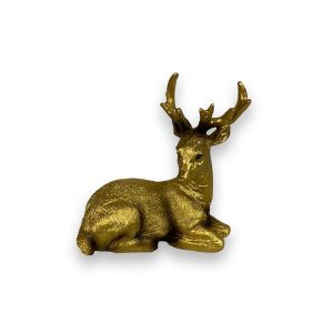 Small Bronze Sitting Stag