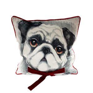 Winter Pug Cushion