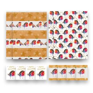 Robin Christmas Gift Wrap & Tags