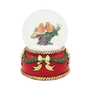 Robin Snow Globe