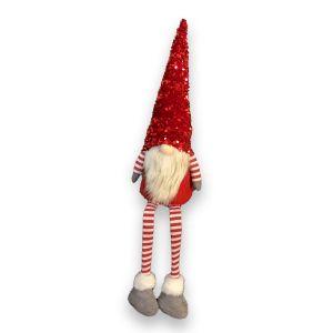Sitting Stripy Leg Grey Feet Gnome