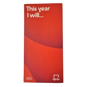 'This Year I Will...' 2022 Slimline Charity Diary