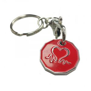 New Shape BHF Red Shopping Trolley Token