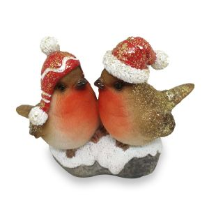 Winter Robins Duo Figures